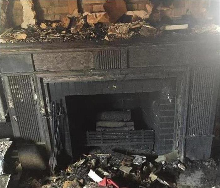 Fire Place Blaze in Raleigh Before