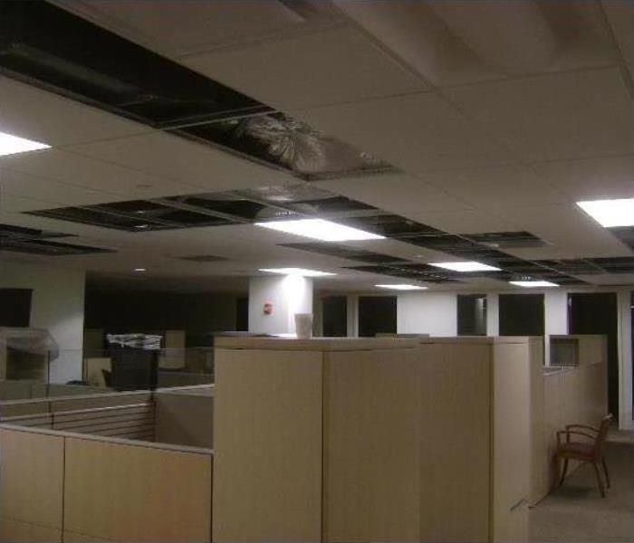 Commercial Water Damage – Durham Offices Before