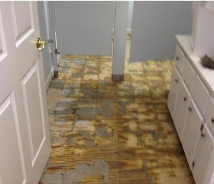 Commercial Water Damage to a Durham Restroom Before